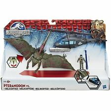 Jurassic World Pteranodon vs Helicopter Play Set Includes Pilot - Chomping Jaws