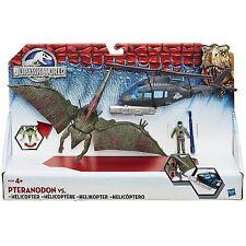 Mundo Jurásico Dinosaurios vs helicóptero Play Set Incluye ruidosas mandíbulas piloto