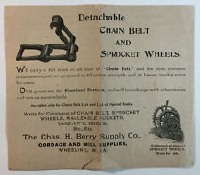 VTG Ad and Price List Charles H Berry Supply Co Chain Belts Sprocket Wheels