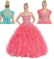 SALE ! MASQUERADE QUINCEANERA BALL DRESS PAGEANT MILITARY WEDDING SWEET 16 GOWNS