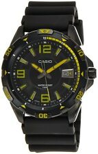 Casio MTD1065B-1A2 Mens YELLOW Analog Racing DIVER Sports Watch Resin 100M New