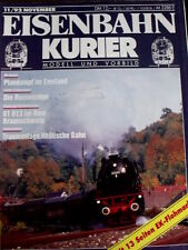 Eisenbahn Kurier n°11 1992 - Traumanlage Rhatische Bahn -  Tr.21