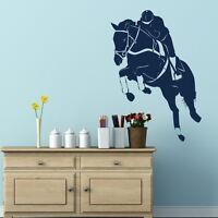 Jumping Horse Wall Sticker / Removable Vinyl / Horse Wall Transfers HO14