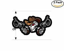 Skull Cowboy 2 Stickers 9.5 Inch Sticker Decal