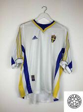 Retro SWEDEN 98/00 Away Football Shirt (XL) Soccer Jersey Adidas