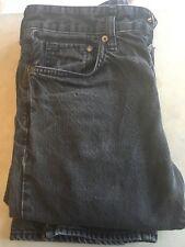 Men's Black Stonewash H&M &Denim Straight Leg Regular Waist Jeans size 30/32