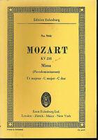 Mozart : MISSA ( Piccolominimesse ) C Dur KV 258  ~ Studienpartitur