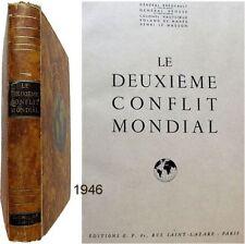 Le Deuxième Conflit mondial 1946 Grégeault Brossé Hautcoeur ww2 guerre mondiale