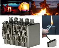5Pcs Waterproof Match Permanent Lighter Striker Fire Starter Emergency Survival
