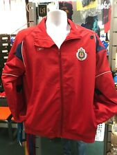 Reebok Vintage Windbreaker Guadalajara Red Jacket Size S Men's Only