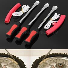 3x Tire Lever Tool Spoon Tire Iron Changing + 2x Wheel Rim Protectors Motorcycle