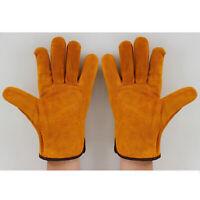 Leder Arbeits Schweißen Handschuhe Tragen-beständig Handschuhe Gartenarbeit