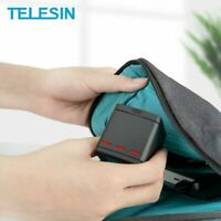 TELESIN 3 Battery Travel Charger Battery storage box Case For Gopro Hero 5 6 7