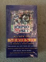 Factory Sealed 1991 Pro Set Series II Football Wax Box (36 Packs)