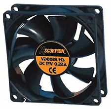 "Xscorpion 5"" Square Cooling Fan w/ 1"" Depth 12 Volt Rotary Plastic Amplifier"