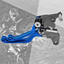 Blue CNC Pivot Brake Clutch Levers for Suzuki DRZ400S/SM 00-15 DR250R 97-00
