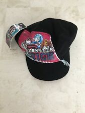 MONSTER HIGH BLACK GIRL'S MILITARY CADET HAT CAP ONE SIZE FITS MOST BRAND NEW
