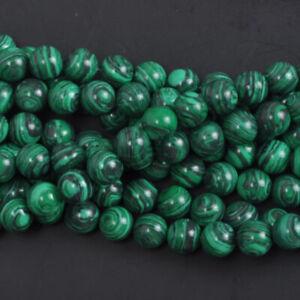 Natural Gemstone Bead Malachite Beads Making for Jewlery 4mm 40pcs