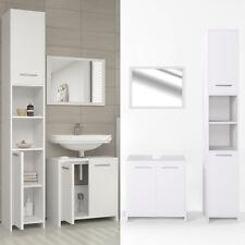 VICCO Badmöbel Set KIKO Weiß - Bad Spiegel Waschtisch Unterschrank Hochschrank
