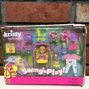 Vtg Barbie Baby Sister Krissy Swing and Play 54217 NEW in Damaged Box