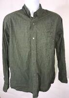 Banana Republic Men's Large Sage Green Striped Long Sleeve Button Up Shirt