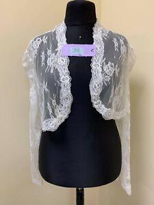 Richard Designs lace Wedding jacket  in ivory size 26 code 24 BNWT