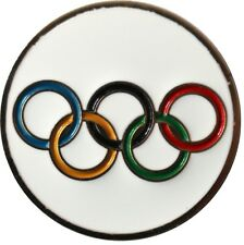 Olympic Rings Golf Ball Marker with Matching USA Hat Clip