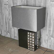Noble Lampe de table armoire nuit en NOIRE 40CM HAUT chevet chambre à coucher