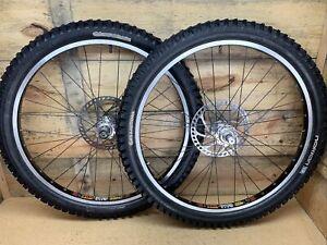 "Vintage 26"" Downhill MTB Wheelset, Sun Rims RHYNO LITE, Hadley, Marzocchi QR20"
