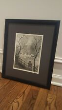 Leon Dolice Etching
