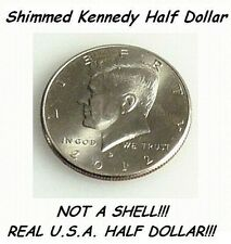 MAGIC TRICK SHIMMED STEEL CORE HALF DOLLAR-NOT A SHELL-SHIM COIN USE W/ PK RING