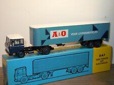 Daf 2600 met Eurotrailer A&O Levensmiddelen - Lion Car 36 - 1:50 in Box *35008