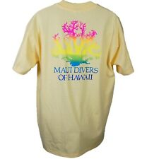 New listing Vtg Maui Divers of Hawaii T-Shirt Made in Usa Single Stitch Xl Surfer Beach
