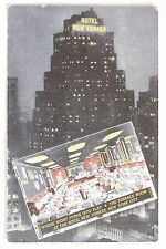 Linen postcard HOTEL NEW YORKER, 34TH STREET AT 8TH AVENUE, NEW YORK CITY