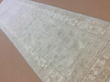 "2'.9"" X 11'.3"" Soft Silver Gray Oushak Persian Oriental Rug Runner Hand Knotted"