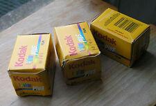 3x KODAK COLOR PLUS 200 ASA Pellicola per esposizione 35mm 24 scaduta 12/2008
