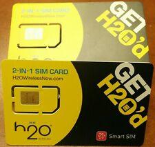 New Prepaid Factory Micro/Stanrd Sim Card H2O Wireless Sim Card. Dual Cut Sim