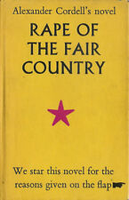 RAPE OF THE FAIR COUNTRY 1st EDITION ALEXANDER CORDELL COLLECTION OF ITEMS
