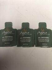 THREE Agave Oil Treatment Healing Oil For Hair Samples 4ml/0.1 Oz Each