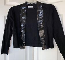 Calvin Klein Black Sequin Shrug