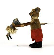 Schuco 1940s German Clockwork Dancing Mice Toy