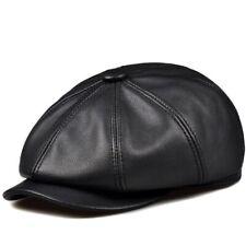 Unisex Baseball Caps Genuine Leather Newsboy Winter Hunting Luxury Painter Hats