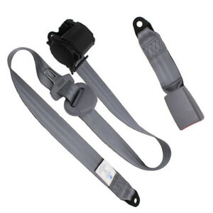 3 Point Car Front Seat Belt Buckle Kit Automatic Retractable Safety Straps Store
