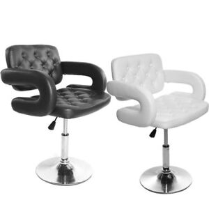 Beauty Salon Chair PU Leather Barber Hairdressing Swivel Chair Kitchen Bar Stool