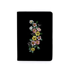FLIP  CASE COVER FOR AMAZON KINDLE TOUCH 2016 PAPERWHITE VOYAGE BLACK FLOWER