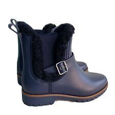 Bernardo Side Buckle Zoe Rain Moto Boots Women's Size 11 Blue New