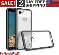 Google Pixel 3 Clear Case Waterproof Slim Fit Drop Protection Phone Cover Black