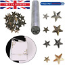 Star Studs Brass 50pcs 11/19mm with Hand Tool for Crafts Leather & Denim Decor