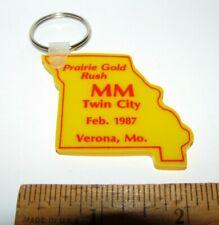 Minneapolis Moline Twin City Tractor Verona MO State Figural Rubber Key Chain mm
