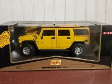 Maisto Hummer H2 SUV Truck 1:18 Scale Diecast Model 4X4 2003 Yellow